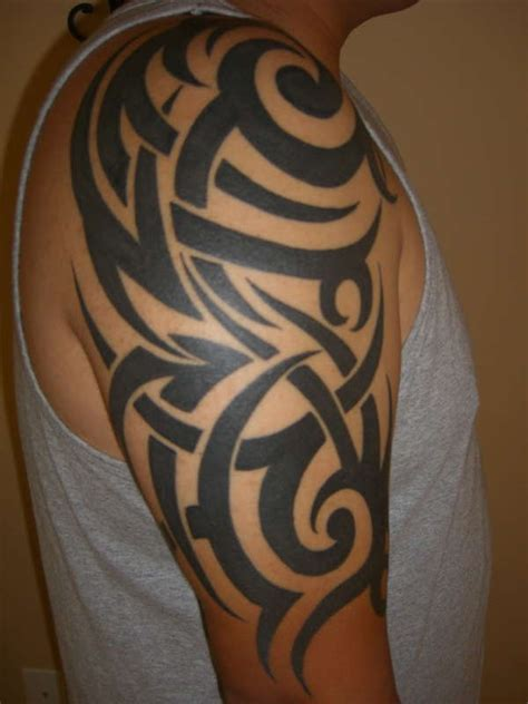 best black tattoo ink for tribal black ink tribal on right half sleeve