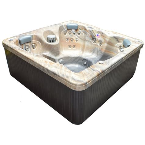 garden bathtub lowes shop home and garden 6 person square hot tub at lowes com