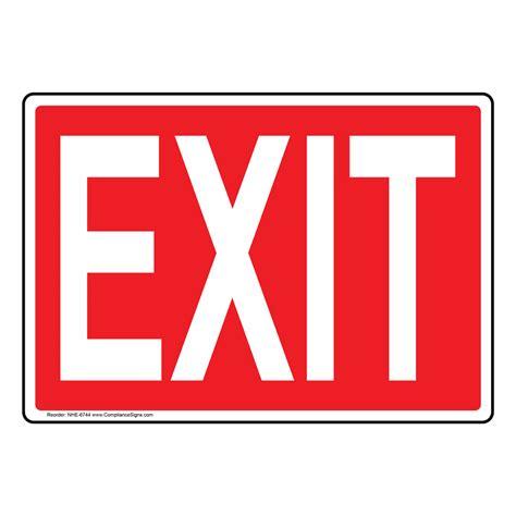 Exit Sign exit sign nhe 6744 enter exit