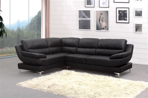 Black Leather Corner Sofa Home Furniture Design Corner Black Leather Sofa