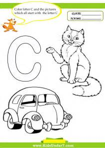 colors that start with the letter c 7 letter с worksheets and coloring pages