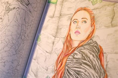 thrones coloring book completed book review hbo s of thrones coloring book for adults