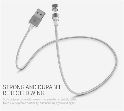 Oto Wsken Kabel Charger Magnetic 3 In 1 wsken magnetic micro usb charging cable 1m only for charging tvc mall