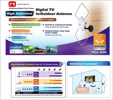 Px Digital Tv In Outdoor Antenna Hda 5000 jual px digital tv in outdoor antenna hda 5000 original orangetech store