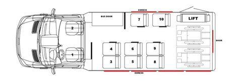 bus floor plans pinnacle bus floor plans