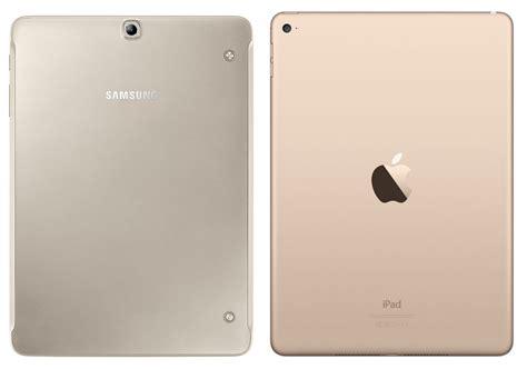 Samsung Tab S2 Gold samsung galaxy tab s2 9 7 vs apple air 2