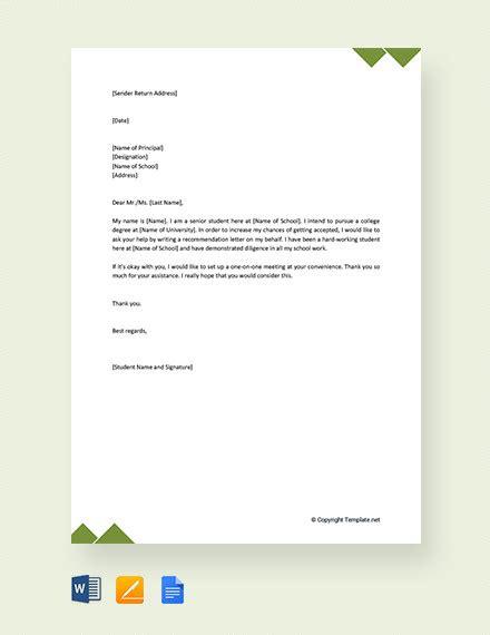 request letter   principal templates   premium templates