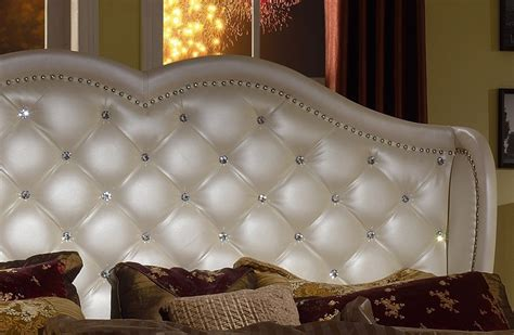 white leather headboard with crystals bedroom delightful modern leather headboard with