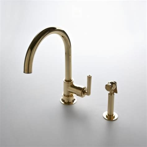 waterworks kitchen faucets henry gooseneck two hole kitchen mixer with lever handles