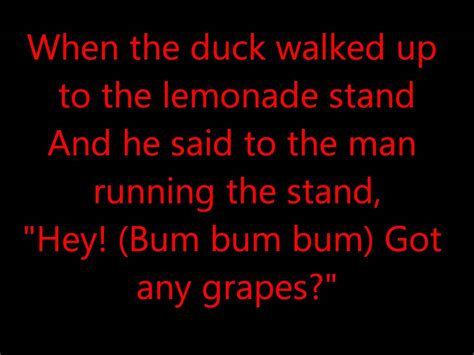 the song the duck song lyrics
