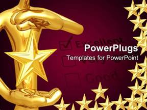 powerpoint award templates powerpoint template a person holding the with purple