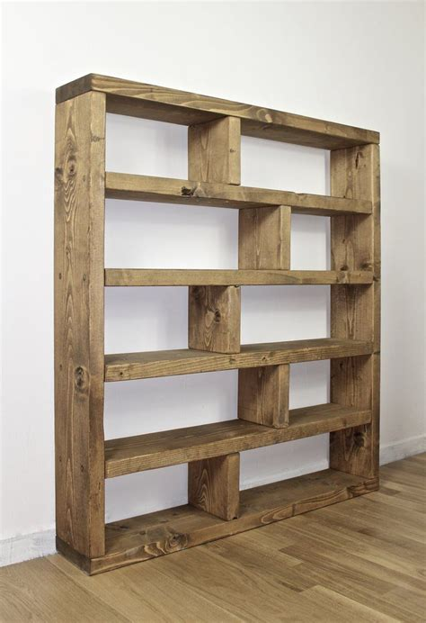 rustic lover shelving bookcase unit wood storage