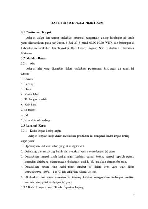 contoh laporan gravimetri laporan akhir dasar dasar ilmu tanah