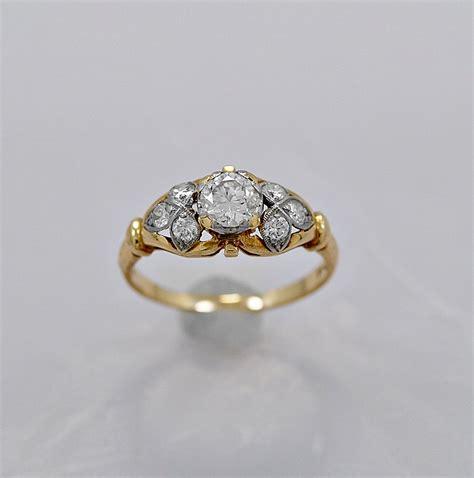 gold antique diamondngs vintage etsy etsy