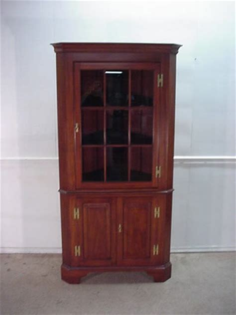 henkel harris china cabinet delong s furniture henkel harris solid cherry corner