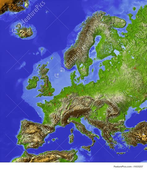 Business Floor Plan Creator illustration of shaded relief map of europe