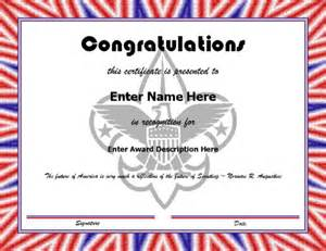 scout award certificate templates pin templates certificates award certificate border