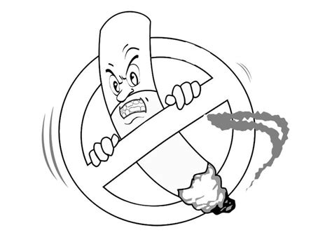 no smoking coloring sheets coloring pages