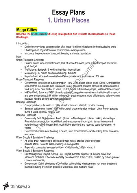 Essay On Geography by Hsc Geography Essay Plans Year 12 Hsc Geography
