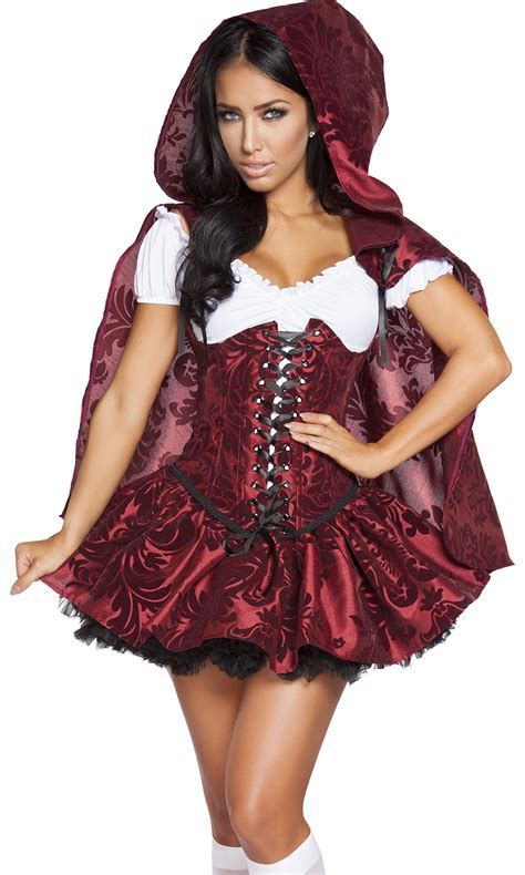 red riding hood 2304 4pc lusty lil red sexy costume