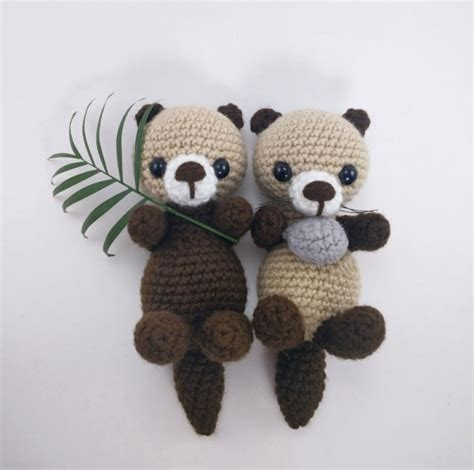 pattern crochet animal sea otters amigurumi pattern amigurumipatterns net