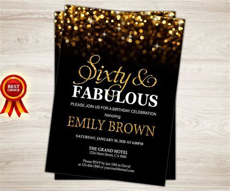 Surprise 60th Birthday Party Invitations Party ? FREE