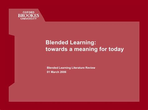 meaning today blended learning towards a meaning for today