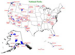 map of the united states national parks national park highpoint trip reports