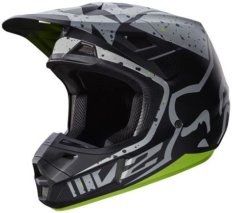 fox helmet fox racing v2 nirv helmet revzilla