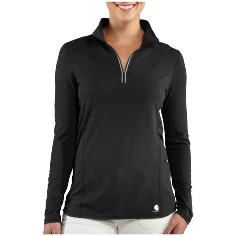 Black Zip Line Shitr s carhartt 174 performance quarter zip shirt 590664 shirts at sportsman s guide