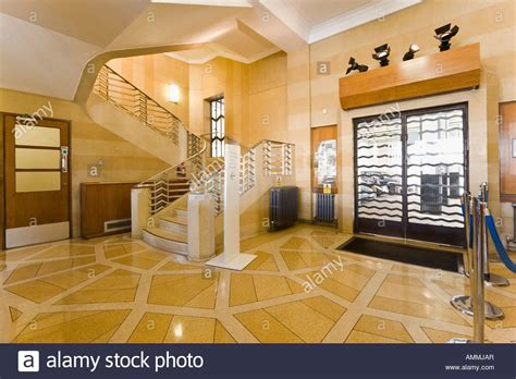 art deco house interior art deco hallway interior st olaf house london stock photo royalty free image