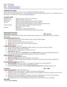 Resume Sample Xls by Excel Resume Template Template With Excel Resume