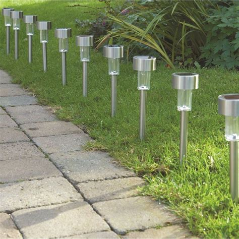 Solar Garden L Post Lights 10 X Solar Powered Garden Lights Post Patio Outdoor Led