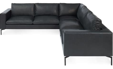 small sectional sofa leather new standard small sectional leather sofa hivemodern com