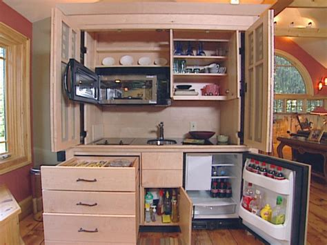 kitchen in a cupboard kitchen reveals a clever solution hgtv