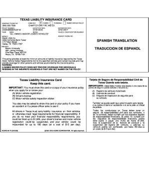 car insurance card template pdf car insurace form fill printable
