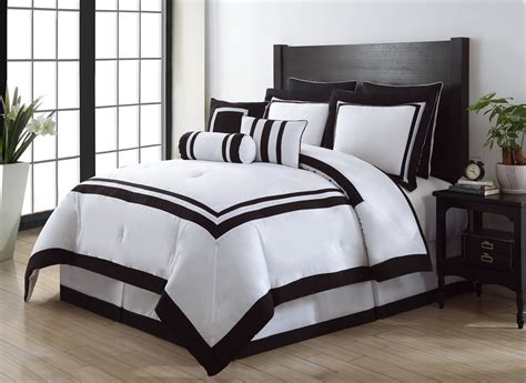black and white comforter sets queen 9 piece queen hotel black and white comforter set ebay