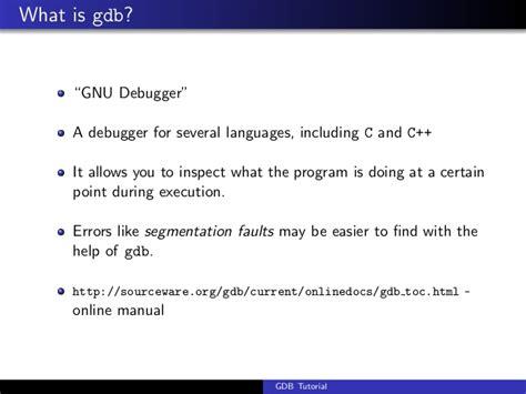 gdb tutorial c gdb tutorial handout