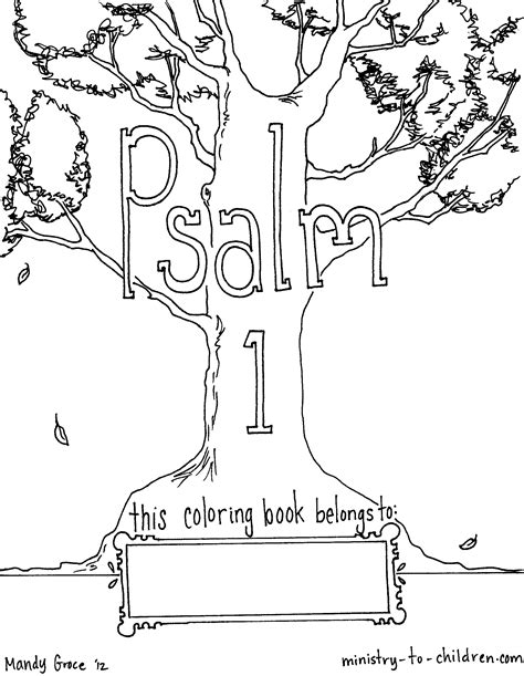 psalm 139 colouring pages