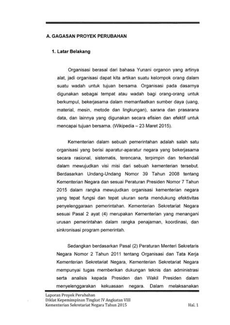 laporan proyek perubahan quot strategi penguatan komunikasi