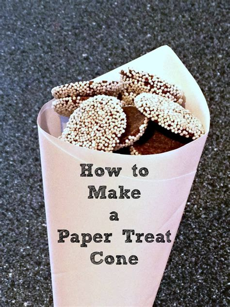 How To Make Paper Cones For Food - how to make a paper treat cone frugal upstate