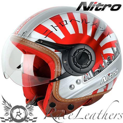 Unterschied Roller Motorrad Helm by Nitro X548 Av Japan Jethelm Motorrad Roller Helm Ebay