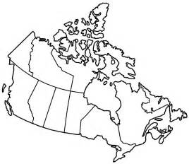 blank canada map dr