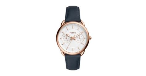 Fossil Es4260 tailor multifunction navy leather fossil