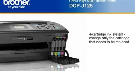 brother dcp j125 ink reset brother j125 vs canon mp287 aio printer specs price ink