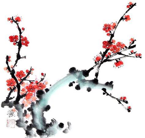 plum blossom tree new year plum blossom painting bird and flower 2485020