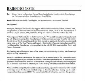 Ministerial Briefing Template by Briefing Note Template 7 Documents In Pdf Psd