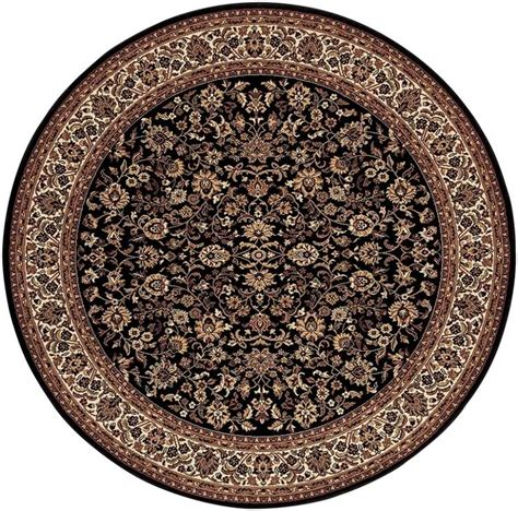 Couristan Rug by Couristan Everest 3791 6025 Isfahan Black Area Rug