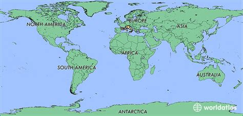 world map with country name italy where is italy where is italy located in the world