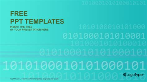 binary powerpoint template binary code computer powerpoint templates